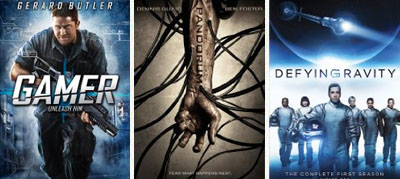 gamer, pandorum, defying gravity dvd