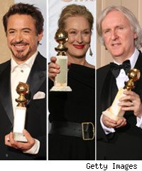 Robert Downey Jr, Meryl Streep, James Cameron