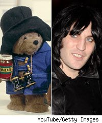 Paddington Bear and Noel Fielding