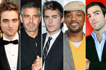Robert Pattinson, George Clooney, Zac Efron, Will Smith, Zachary Quinto