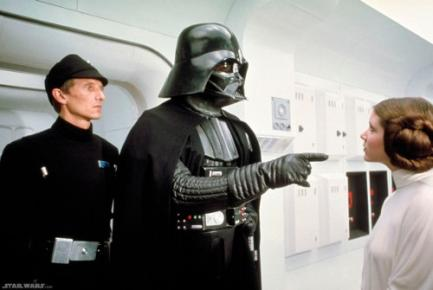 SciFi Squad - The Top Ten Sci-Fi Fathers and Daughters (pictured: Darth Vader and Princess Leia)