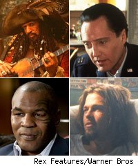 Keith Richards, Christopher Walken, Mike Tyson, Brad Pitt