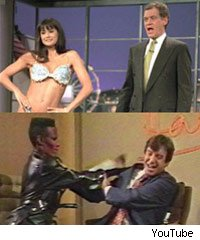 Demi Moore on the David Letterman Show and Grace Jones on the Russell Harty Show