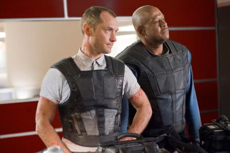 Jude Law and Forest Whitaker in 'Repo Men' (Universal Pictures)