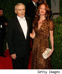 Dennis Hopper and wife Victoria Duffy arrive at the 2009 Vanity Fair Oscar Party on February 22, 2009 in West Hollywood, California