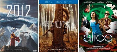 2012 where the wild things are alice dvd blu-ray
