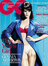 Gemma Arterton on the April 2010 GQ cover