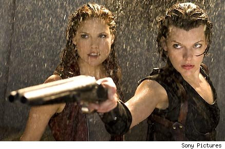 Ali Larter and Milla Jovovich in 'Resident Evil: Afterlife'