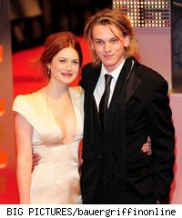 Bonnie Wright and Jamkie Campbell Bower