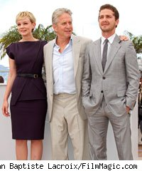 Carey Mulligan, Michael Douglas and Shia LaBeouf