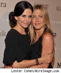 Courtney Cox and Jennifer Aniston