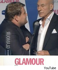 James Corden and Patrick Stewart at Glamour Awards
