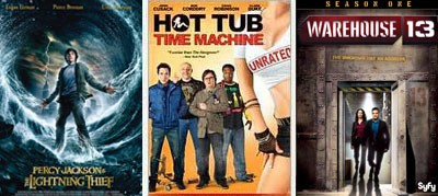 percy jackson hot tub time machine warehouse 13 dvd