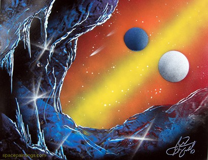 Watch This Planetary Spray Paint Art Moviefone