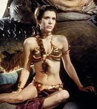 Carrie Fisher as Princess Leia in Return of the Jedi