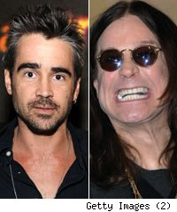 Colin Farrell and Ozzy Osbourne