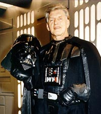 David Prowse in Darth Vader outfit