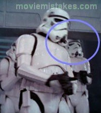 Stormtrooper bumps his head in Star Wars