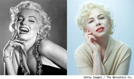 Marilyn Monroe and Michelle Williams