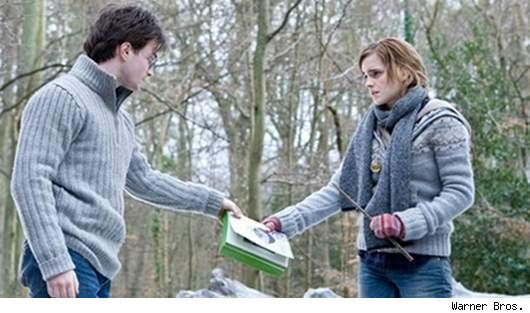 Daniel Radcliffe and Emma Watson in 'Deathly Hallows, Pt. 1'