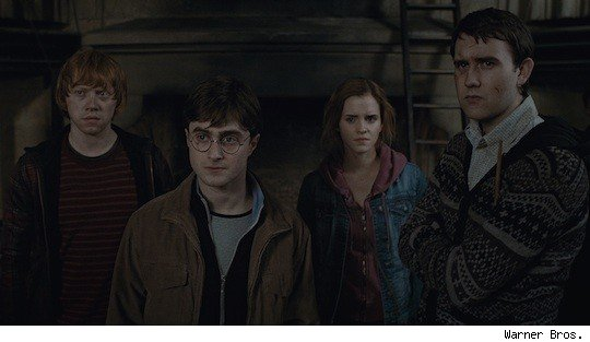 Ron Weasley, Harry Potter, Hermione Granger and Neville Longbottom