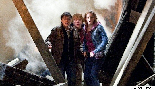 Harry, Ron and Hermione in Deathly Hallows Part II