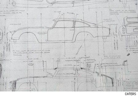 Build your own Bond car as official blueprints up for auction - AOL