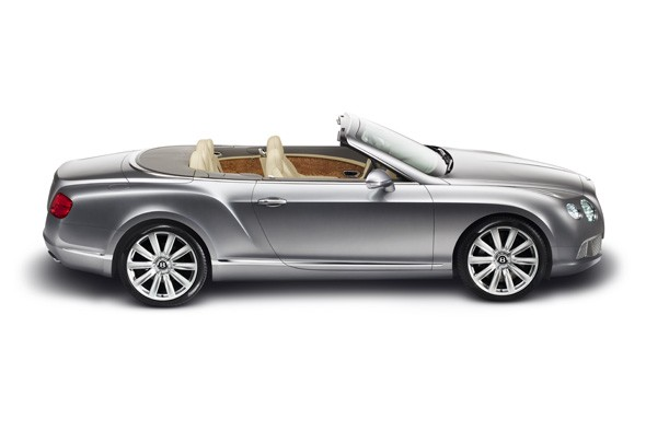 Topless Bentley Continental convertible