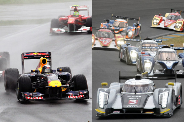 Action from Canadian Grand Prix and Le Mans