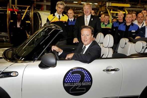 David Cameron in two millionth Mini