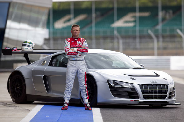 Audi R8 LMS and Allan McNish