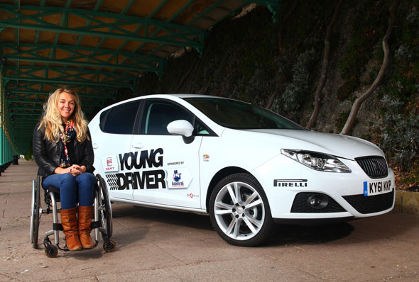 Sophie Morgan with the SEAT Young Driver Programme