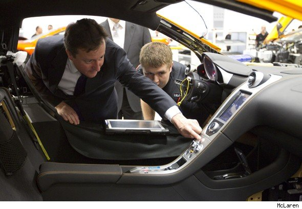 David Cameron at McLaren HQ