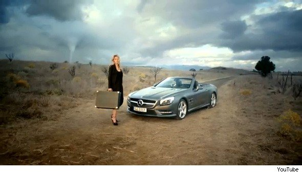Mercedes SL advert