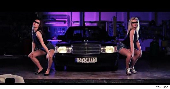 Mercedes 190 rap video
