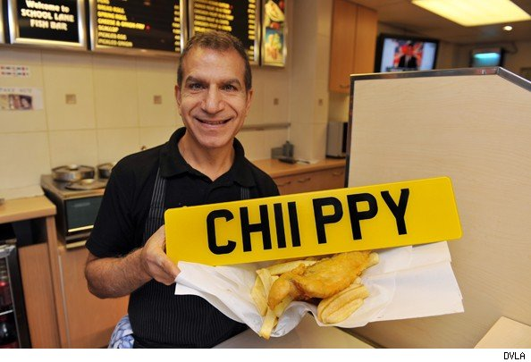 DVLA private number plates chippy