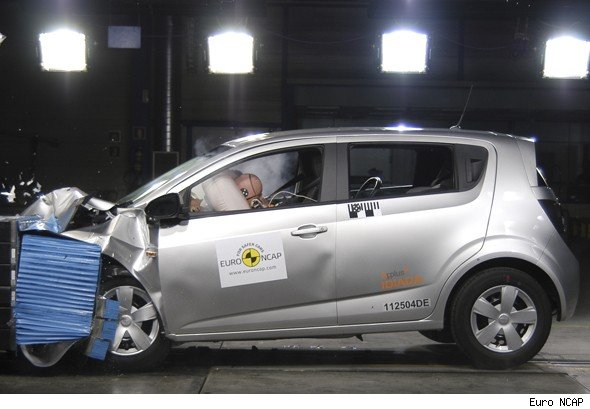 Chevrolet Aveo Euro NCAP crash test