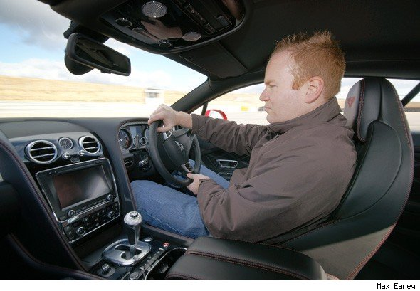 Martyn Collins driving a Bentley GT V8