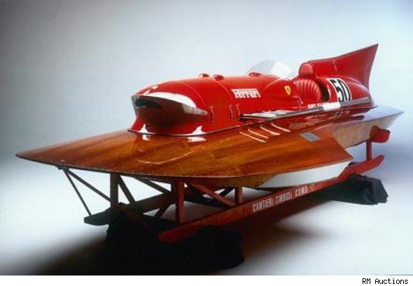 Amazing 1m Vintage Ferrari Speedboat For Sale Aol