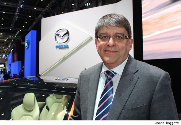 Mazda Motor Europe chief operating officer Philip Waring
