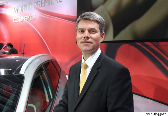 Paul Philpott, Kia Europe's chief operating officer