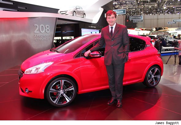 Peugeot 208 GTI and Peugeot director general Vincent Rambaut