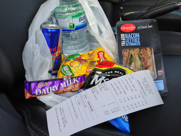 Food bought at Welcome Break