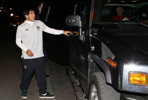 Man City striker Carlos Tevez banned from driving because of language barrier