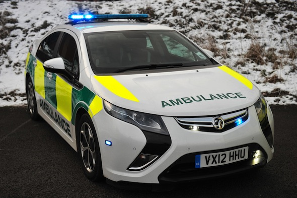 Eco-friendly Vauxhall Ampera to be trialled in ambulance service