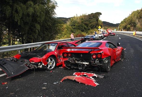 Drivers to be charged for world's most expensive car crash