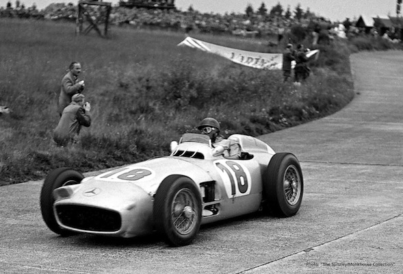 Juan Manuel Fangio's historic Mercedes-Benz up for auction