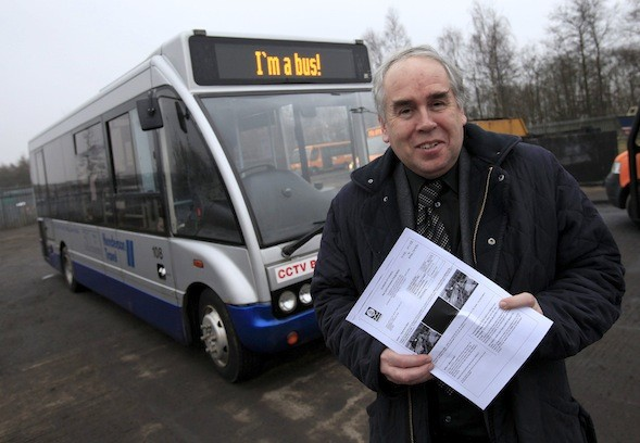 Bus driver fined £60 for using bus lane