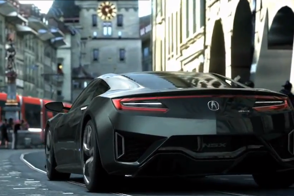 Upcoming Honda NSX tackles the track... sort of
