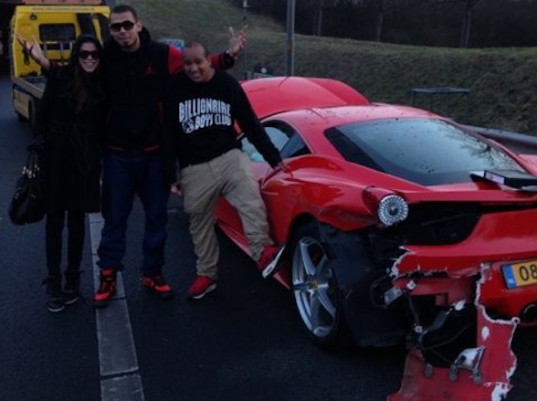 Dutch DJ Afrojack totals Ferrari 458 just hours after buying it